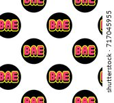 seamless pattern with patches ... | Shutterstock .eps vector #717045955