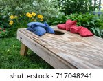 low angle view of corn hole... | Shutterstock . vector #717048241