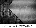 stained metal with diamond... | Shutterstock . vector #717049015
