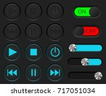 media player buttons set....