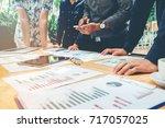 startup business team... | Shutterstock . vector #717057025
