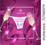 ladies night party invitation... | Shutterstock .eps vector #717060574