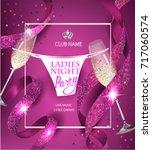 ladies night party invitation... | Shutterstock .eps vector #717060574