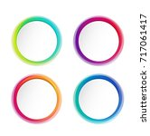 modern round or circles... | Shutterstock .eps vector #717061417