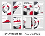abstract vector layout... | Shutterstock .eps vector #717062431