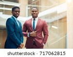 successful african american... | Shutterstock . vector #717062815