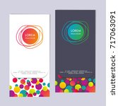 vertical banner with a color...   Shutterstock .eps vector #717063091