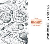 bakery illustration. vintage... | Shutterstock .eps vector #717067471