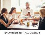business people meeting in... | Shutterstock . vector #717068575