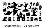 collection set of halloween... | Shutterstock .eps vector #717069295