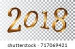 happy new year golden numbers.... | Shutterstock .eps vector #717069421