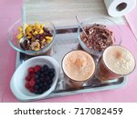 vegan dish plate of food | Shutterstock . vector #717082459