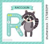 letter r uppercase cute... | Shutterstock .eps vector #717085099