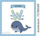 letter w lowercase cute... | Shutterstock .eps vector #717085309