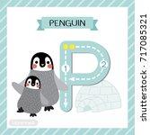 letter p uppercase cute... | Shutterstock .eps vector #717085321