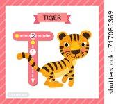 letter t uppercase cute... | Shutterstock .eps vector #717085369