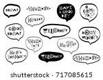 vector set of hand drawn... | Shutterstock .eps vector #717085615