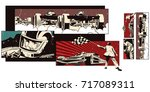 stock illustration. people in... | Shutterstock .eps vector #717089311
