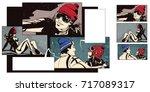 stock illustration. people in... | Shutterstock .eps vector #717089317