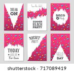 abstract vector layout... | Shutterstock .eps vector #717089419