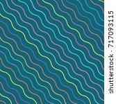 vector color wavy pattern.... | Shutterstock .eps vector #717093115