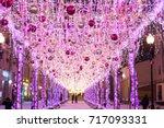 arbat is an old street  is it a ... | Shutterstock . vector #717093331