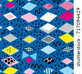 geometric elements memphis... | Shutterstock .eps vector #717094429