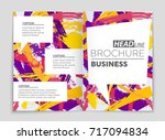 abstract vector layout... | Shutterstock .eps vector #717094834