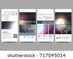 flyers set  modern banners.... | Shutterstock .eps vector #717095014
