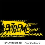 off road extreme hand drawn... | Shutterstock .eps vector #717103177