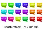 set off colorful business sale... | Shutterstock .eps vector #717104401