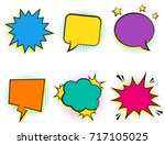 set of empty retro colorful... | Shutterstock .eps vector #717105025