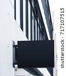 mock up black signage display... | Shutterstock . vector #717107515
