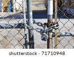 Chain Locked Fence Gate
