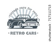 vintage car. sale  rental of... | Shutterstock .eps vector #717111715