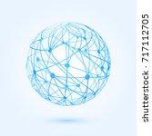 global communication... | Shutterstock .eps vector #717112705