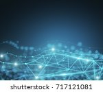 abstract tech low poly... | Shutterstock . vector #717121081