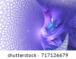 Abstract Textured Blue And...