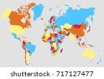 color world map. | Shutterstock .eps vector #717127477