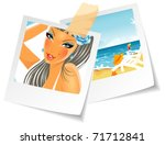 vector illustration of summer... | Shutterstock .eps vector #71712841