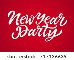 new year party   vector hand... | Shutterstock .eps vector #717136639
