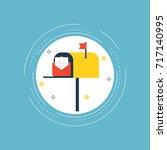 online marketing  e mail... | Shutterstock .eps vector #717140995