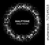 white halftone circle vector... | Shutterstock .eps vector #717149215