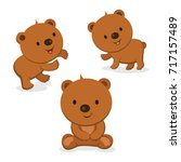 cute bears. vector illustration. | Shutterstock .eps vector #717157489