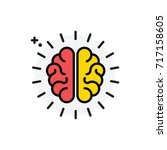 brain concept isolated line...   Shutterstock .eps vector #717158605