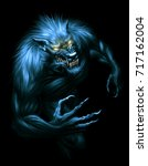Werewolf With Glowing Eyes On...