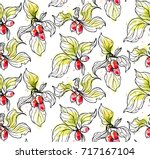 ink  pencil  watercolor the... | Shutterstock .eps vector #717167104
