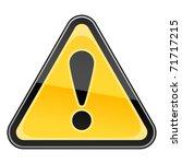 hazard warning attention sign...   Shutterstock . vector #71717215