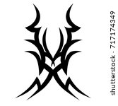 tribal tattoo art designs.... | Shutterstock .eps vector #717174349