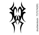 tattoo tribal vector design....   Shutterstock .eps vector #717174391